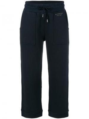 Укороченные брюки Burberry. Цвет: синий