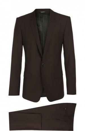 Шерстяной костюм с декоративной прострочкой Dolce & Gabbana. Цвет: бордовый