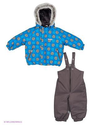 Комплект одежды Kerry. Цвет: синий, коричневый