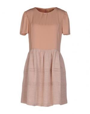 Короткое платье BONSUI. Цвет: телесный