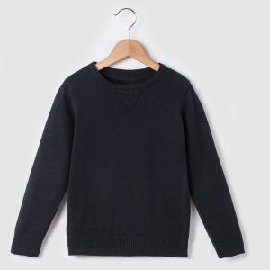 Пуловер однотонный на 3-12 лет R essentiel. Цвет: зеленый,серый меланж,синий морской