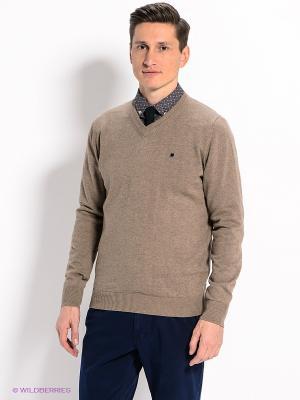 Пуловер Men of all nations. Цвет: светло-коричневый