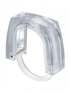 Крючки для штор в ванную, пластик, прозрачные 4,8*6*1,4с WHITE FOX. Цвет: серый