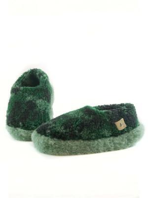 Тапочки ALWERO. Цвет: зеленый