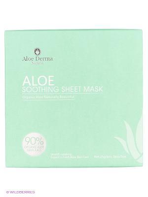 Маска успокаивающая для всех типов кожи Aloe Derma. Цвет: белый