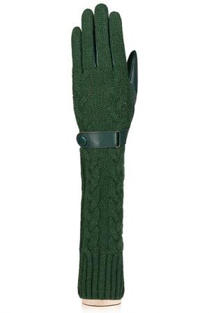 Перчатки Labbra. Цвет: темно-зеленый
