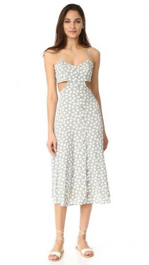 Миди-платье Mallory Flynn Skye. Цвет: зеленый