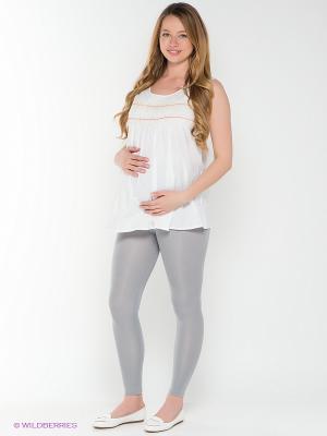 Леггинсы для беременных 40 недель. Цвет: серый