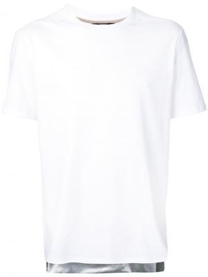 Striped hem T-shirt General Idea. Цвет: белый