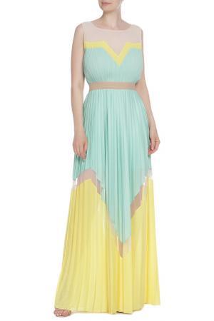 Платье BCBG Max Azria. Цвет: двухцветный