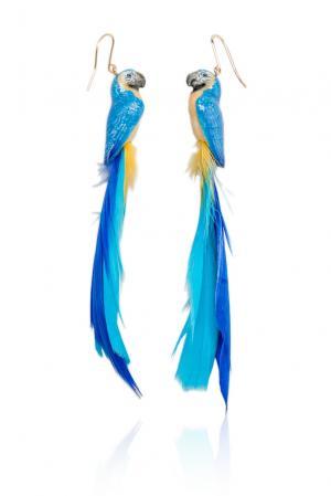 Серьги 131821 Nach Jewellery. Цвет: синий