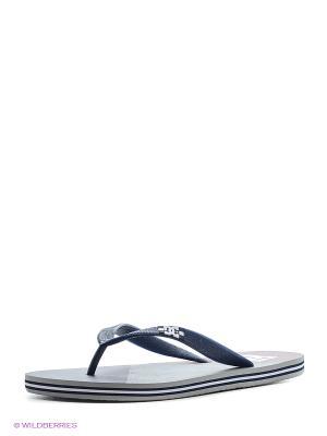 Шлепанцы DC Shoes. Цвет: сиреневый, серый меланж