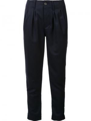 Укороченные брюки NSF. Цвет: синий
