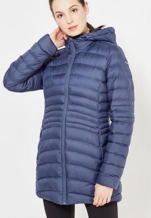 Куртка утепленная Reebok. Цвет: синий