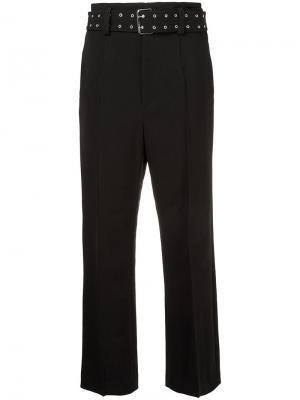 Eyelet belted slim leg pants G.V.G.V.. Цвет: чёрный