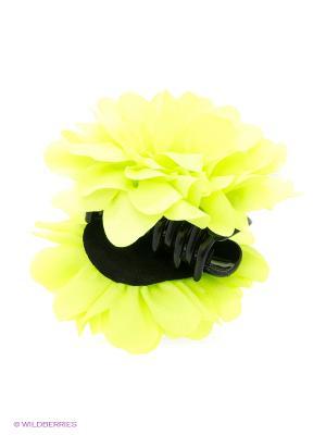 Краб для волос Цветок Daisy Design. Цвет: зеленый