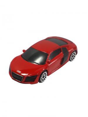 Машинка Audi R8 V10, Красная (1:64) (PS-344996S-R) Pit Stop. Цвет: красный