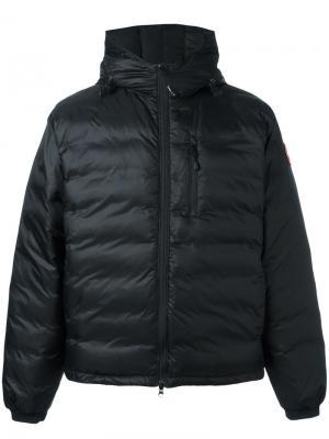 Куртка-пуховик с капюшоном Canada Goose. Цвет: чёрный