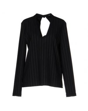 Блузка JI OH. Цвет: черный