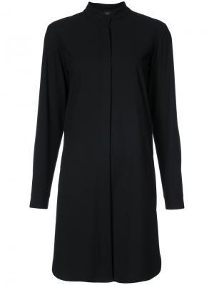 Классическое платье шифт Zero + Maria Cornejo. Цвет: чёрный