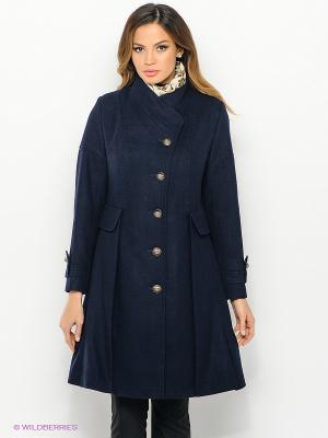 Пальто Malinardi. Цвет: темно-синий