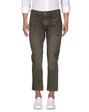 Джинсовые брюки IMB I'M BRIAN. Цвет: зеленый-милитари