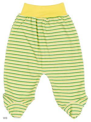 Ползунки Babycollection. Цвет: зеленый, желтый