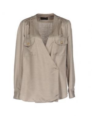 Pубашка JO NO FUI. Цвет: голубиный серый