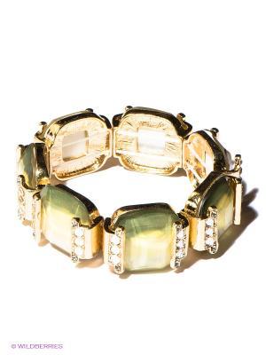 Браслет AVGAD. Цвет: золотистый, желтый, зеленый, прозрачный