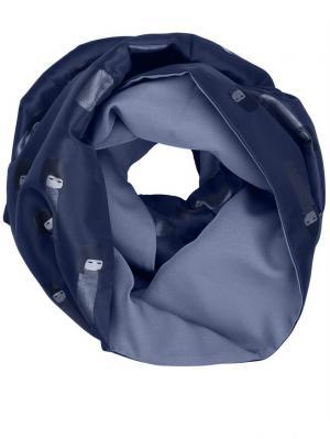 Снуд-Мебиус - Вип-жаккард Оланж Ассорти. Цвет: синий, индиго, голубой, темно-синий