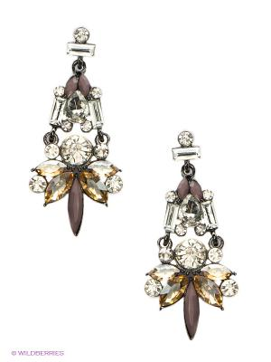 Серьги Lovely Jewelry. Цвет: серебристый, коричневый