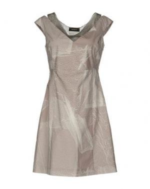 Короткое платье CIVIDINI. Цвет: голубиный серый