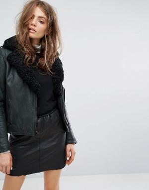 Goosecraft Байкерская куртка на подкладке. Цвет: серый