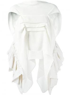 Драпированная блузка Maticevski. Цвет: белый