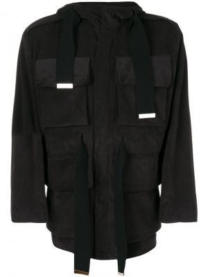 Куртка карго Maison Mihara Yasuhiro. Цвет: чёрный