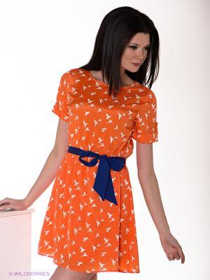 Платье Everly. Цвет: оранжевый