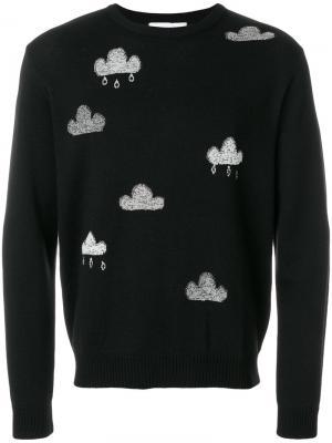 Джемпер с вышивкой Cloud Jimi Roos. Цвет: чёрный