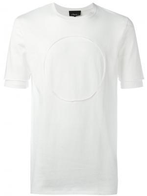 Футболка с круглой панелью 3.1 Phillip Lim. Цвет: белый