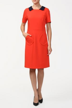 Платье Domena. Цвет: красный