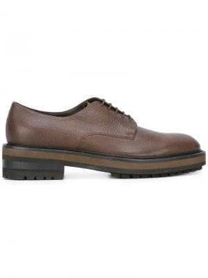 Ботинки-дерби на толстой подошве Fratelli Rossetti. Цвет: коричневый