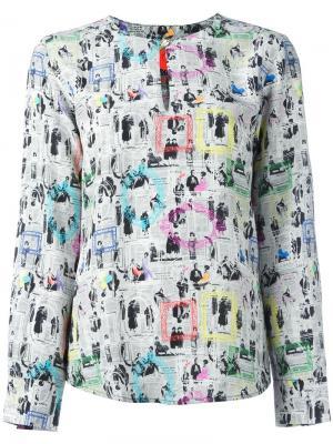Блузка с принтом Frames Ultràchic. Цвет: многоцветный