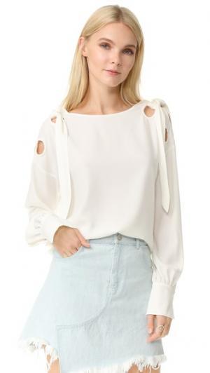 Блуза с завязками Mayka Designers Remix. Цвет: золотой