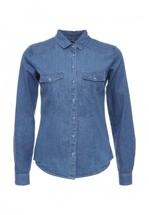 Рубашка джинсовая Troll. Цвет: синий