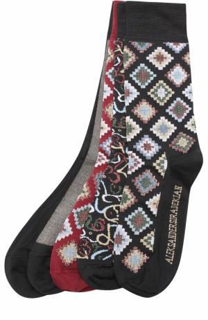 Шелковые носки с принтом Aleksandersiradekian. Цвет: разноцветный