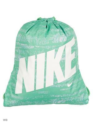 Рюкзак NIKE YA GRAPHIC GYMSACK. Цвет: зеленый, белый, салатовый