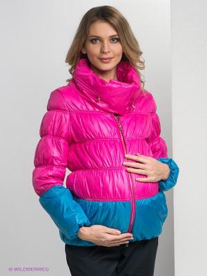 Куртка Gemko. Цвет: фуксия, голубой