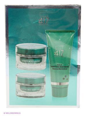 Косметический набор для лица Трио-Увлажнение Green Diamond Minus 417. Цвет: морская волна, прозрачный