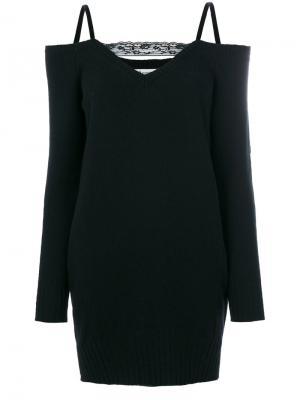 Платье с открытыми плечами Dondup. Цвет: чёрный