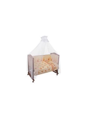 Комплект Пчелки 6 предметов Сонный гномик. Цвет: бежевый