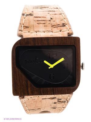 Часы Mistura. Цвет: бежевый, темно-коричневый